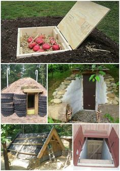 17 DIY Root Cellars For The Homestead Having a place to store your vegetables over he hot and cold months can save you a lot of money on electricity while keeping them fresher and better tasting. The DIY root cellars Homestead Farm, Homestead Gardens, Homestead Survival, Homestead Layout, The Farm, Small Farm, Outdoor Projects, Garden Projects, Living Off The Land