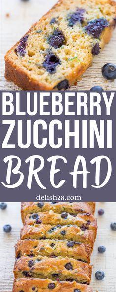 BLUEBERRY ZUCHINI BREAD RECIPE
