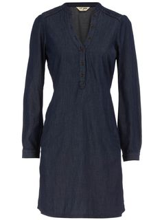You can never have enough dark denim dresses