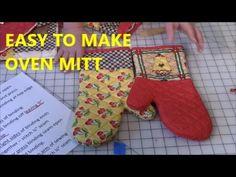 How to Make an Oven Mitt- FREE pattern & Tutorial - YouTube