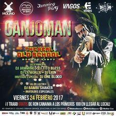 """El Molino & Jamming Party presentan: """"The Real Old School – Reggae Party con Ganjoman"""" http://crestametalica.com/evento/el-molino-jamming-party-presentan-the-real-old-school-reggae-party-con-ganjoman/ vía @crestametalica"""