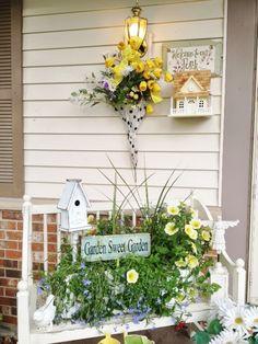 Junk Chic Cottage - Umbrella flower holder, genius!