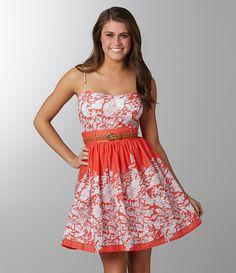 B. Darlin Belted Floral Dress
