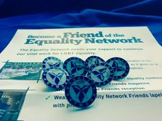 Our lovely new lapel pin badges have arrived. You can get one by becoming a friend. #LGBT  http://www.equality-network.org/support-us/  pic.twitter.com/OfUngJii79