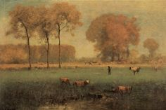 George Inness 'Summer Landscape' 1894 by Plum leaves, via Flickr