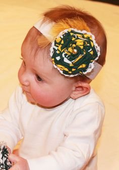 Green Bay Packers Baby Headband by HollyLynnCollections on Etsy, $12.50