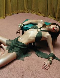 lelaid:  Eugenia Volodina in A Cut Above for Vogue Italia, January 2003Shot by Steven MeiselStyled by Jane How