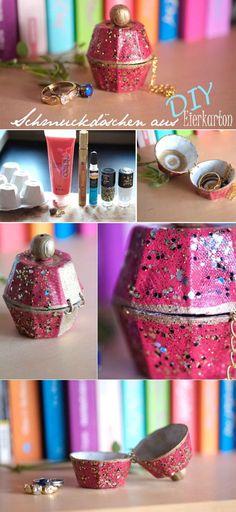 Schmuckdöschen aus Eierkarton - Handmade Kultur