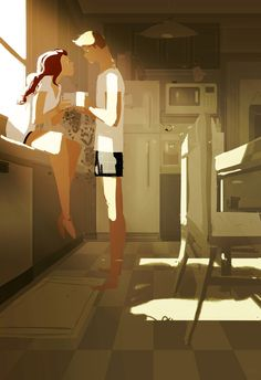 "Is this hot enough for you? by PascalCampion.deviantart.com on @deviantART ""Here is your hot chocolate honey, with the little marshmallows, like you like. I also did the dishes, took out the trash, paid the bills and.....  Honey? .. Honey? .. are you ok? ,,why are you staring at me like that?..it's a little freaky......... are you.... Purring..?"""