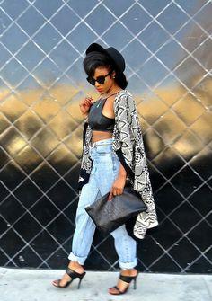 ecstasymodels:  Leather Weather  Zahra Jamila