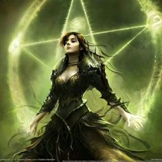 Witch And Pentagram - Fantasy Girls Wallpapers and Images Fantasy Girl, 3d Fantasy, Fantasy Artwork, Dark Fantasy, Fantasy Witch, Fantasy Heroes, Fantasy Women, Fantasy Characters, Female Characters