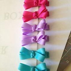 Ribbon bow hair clips
