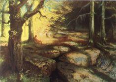 Waldweben (1913), by Hermann Hendrich (1854-1931), from Act 2, Scene 2, of Siegfried (1871), by Richard Wagner (1813-1883).