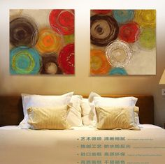 Find More Painting & Calligraphy Information about Colored circles modern abstract painting decorative artist canvas wall art free shipping for home office,High Quality art painting techniques,China painting folk art Suppliers, Cheap painting art children from WHAT ART on Aliexpress.com