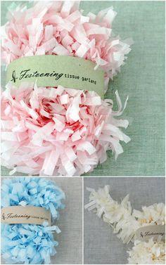 Caramelo's tissue garland. so pretty!