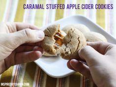 Caramel Stuffed Apple Cider Cookies // Fall Cookie Week