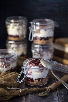 Pasta Cake, Desserts In A Glass, Cake In A Jar, Cake Cookies, Cookie Recipes, Panna Cotta, Deserts, Fudge, Food And Drink