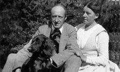 """Johannes and Olga Bucholtz and their beloved dog """"Stella"""""""