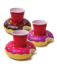 This Donut Drink Float - Set of Three is perfect! #zulilyfinds
