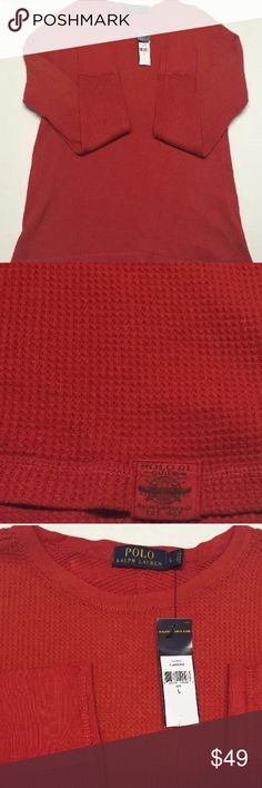 Polo Ralph Lauren Waffle Knit Thermal Large $98 Polo Ralph Lauren Waffle Knit Thermal - Red Beret - Large $98 NWT Polo by Ralph Lauren Shirts Tees - Long Sleeve