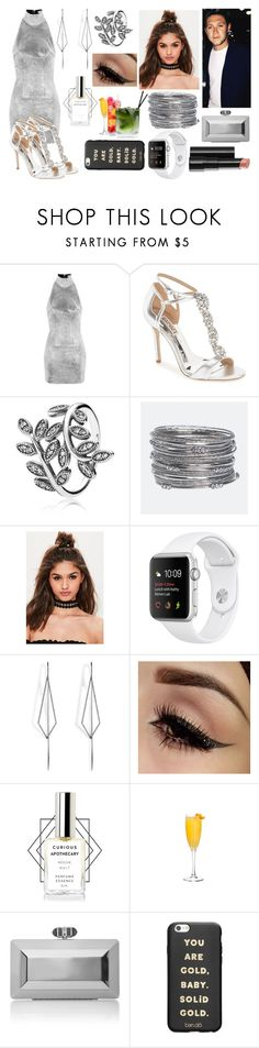 """Night out with Niall"" by livvy-horan ❤ liked on Polyvore featuring Topshop, Badgley Mischka, Pandora, Avenue, Missguided, Diane Kordas, Arbonne, Judith Leiber, ban.do and Silver"
