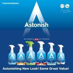 Giveaway Win £50 of Astonish Cleaning Products. Astonish are a cruelty free brand that have rebranded with a new look. To celebrate they have given us £50 of their products to giveaway. Free to enter competition.