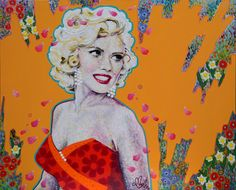 Amylee's painting #art #flowers #portrait
