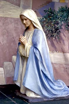 Photo about Statue of Mary kneeling in prayer. Image of mary, nativity, mother - 3564150 Mother Mary Images, Images Of Mary, Kneeling In Prayer, Hail Holy Queen, Queen Of Heaven, Sainte Marie, Immaculate Conception, Blessed Mother Mary, Mary And Jesus