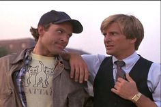 Face and Murdock of The A-Team. Their expressions just kill me. :D