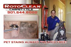 RotoClean Services - Eric Hart is great! He honored a competitor's price. He did a fantastic job on our carpets. Can't wait for him to clean our tile and grout. Even better, he's a pet rescuer!