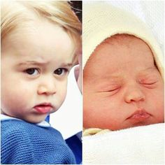 Prince George 2013 and Princess Charlotte 2015