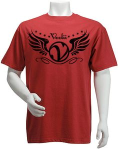Rock the Voolii V-Wings tee and show you are a Volley Style Icon!    Men's Fine Jersey Fitted Tee  4.3 oz 100% Combed Ringspun Cotton, Super-soft, lightweight, slim-fit tee. Machine washable and preshrunk to minimize shrinkage. Printed care label..    Item code: MTSS0006    Price: $18.00    http://www.voolii.com/VooliiShop/tabid/184/CategoryID/1/List/0/catpageindex/2/Level/a/ProductID/30/Default.aspx