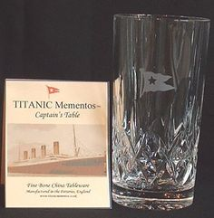 RMS TITANIC Crystal Glass Ware