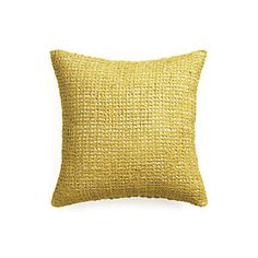 "Lanzo Yellow 20"" Pillow"