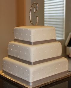 3 tier wedding cake. Simple and beautiful.