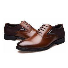 Men Dress Shoes Lace-Up High Quality Oxford Fashion Business Shoes size EUR 38-48