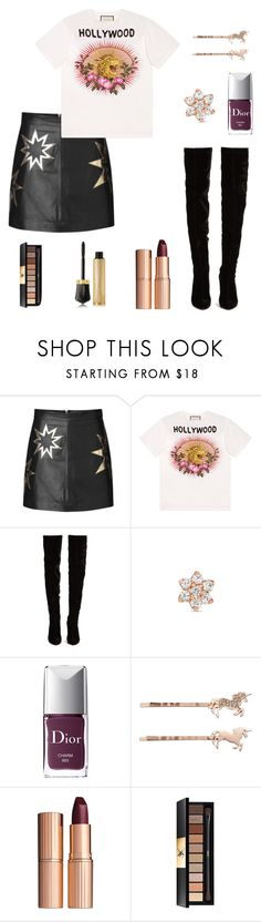 """Untitled #347"" by maram267 ❤ liked on Polyvore featuring Gucci, Christian Louboutin, Maria Tash, Christian Dior, LC Lauren Conrad, Charlotte Tilbury and Yves Saint Laurent"