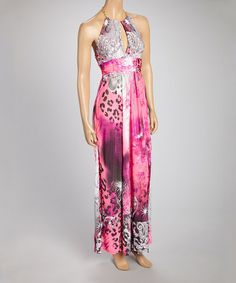 Another great find on #zulily! Pink Halter Maxi Dress by Igloo Island #zulilyfinds