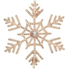 John Lewis Faux Pearl Snowflake Brooch, Rose Gold ($15) ❤ liked on Polyvore featuring jewelry, brooches, accessories, christmas, pins, iridescent jewelry, red gold jewelry, safety pin jewelry, pin jewelry and snowflake jewelry