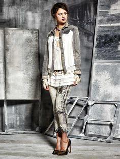 danieladallavalle  collection  elisacavaletti  fw15  grey  white  jacket   denim  jeans. Daniela Dallavalle · Elisa Cavaletti ... b99baa22dbb