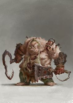 character concept ogre undead abomination knife butcher wield - a dota Character, xin xia