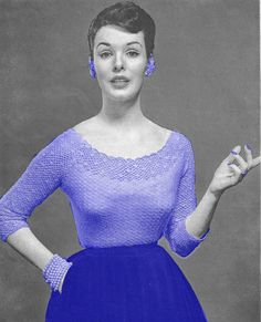 Vintage+1950s+Lacy+Cocktail+Blouse+Sweater+by+OriginalsByMissJulia,+$3.00