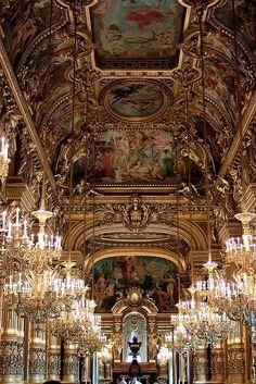 Palais Garnier, Opera House, Paris. I've not been inside but ate McDonalds on the front steps!