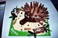 Wanna eat your spikes!   Echidna Hedgehog Birthday cake!