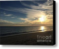 Limited Time Promotion: Oak Island Sunset Stretched Canvas Print