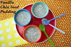 Creamy Vanilla Chia Seed Pudding on Weelicious