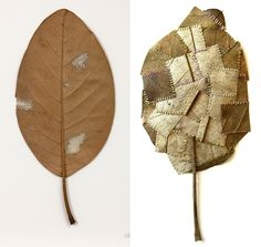 Magie met naald en draad: borduren anno 2015 - Susanna Bauer #borduren #embroidery #textile #crochet #mending #handmade #crafts #art Dry Leaf Art, Alice Fox, Crochet Leaves, Collage Artwork, Cubism, Design Crafts, Textile Art, Fiber Art, Needlework