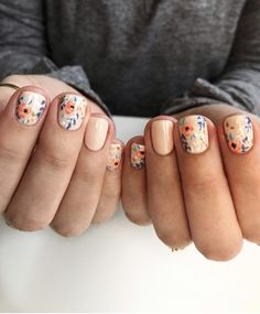 simple and amazing gel nail designs for summer – page 49 of 50 18 Fancy Nails, Love Nails, How To Do Nails, Pretty Nails, My Nails, Hair Skin Nails, Nail Envy, Cute Nail Art, Gel Nail Designs