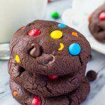 M&M Double Chocolate Cookies
