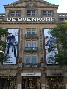 Amsterdam, de Bijenkorf- stylish department store with a great restaurant on the top floor to get lunch